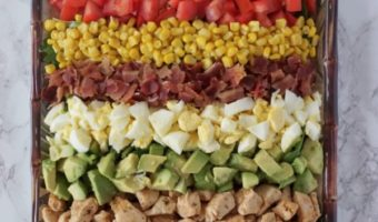 Family Style Cobb Salad With Blueberry Cornbread