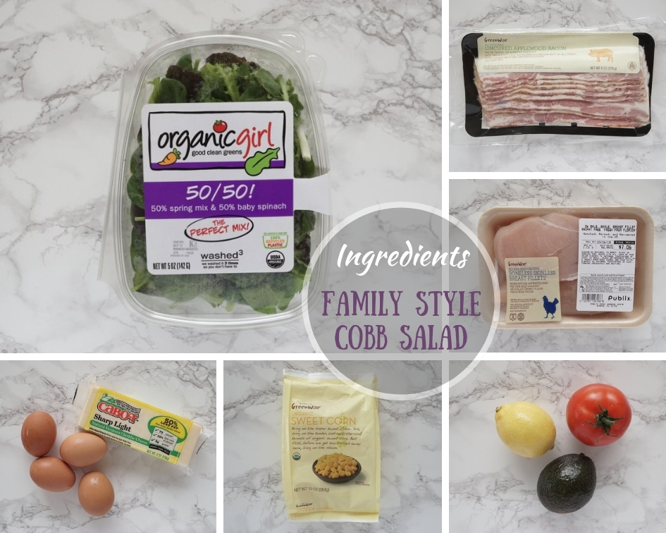 Ingredients Family Style Cobb Salad
