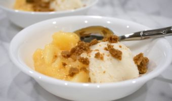 Warm Apple Crisp Sundae