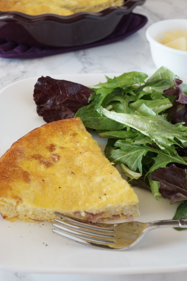 Crustless Ham and Swiss Quiche