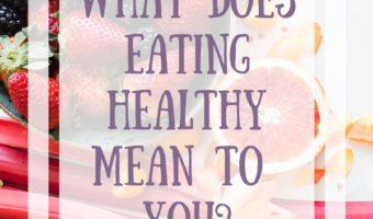 WHAT DOES EATING HEALTHY MEAN TO YOU