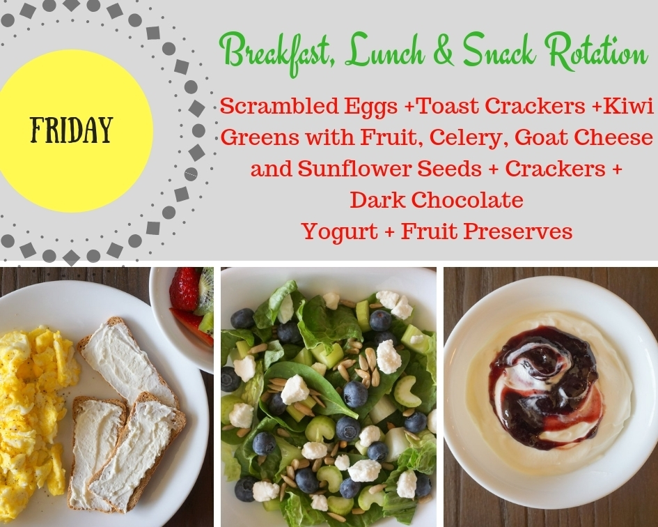 Breakfast, Lunch and Snack Rotation FRIDAY