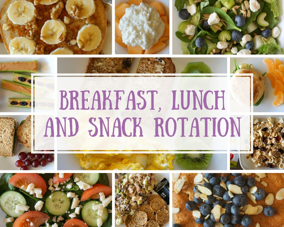 BREAKFAST, LUNCH AND SNACK ROTATION