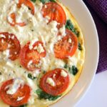 Egg White Frittata with Spinach, Tomato and Feta