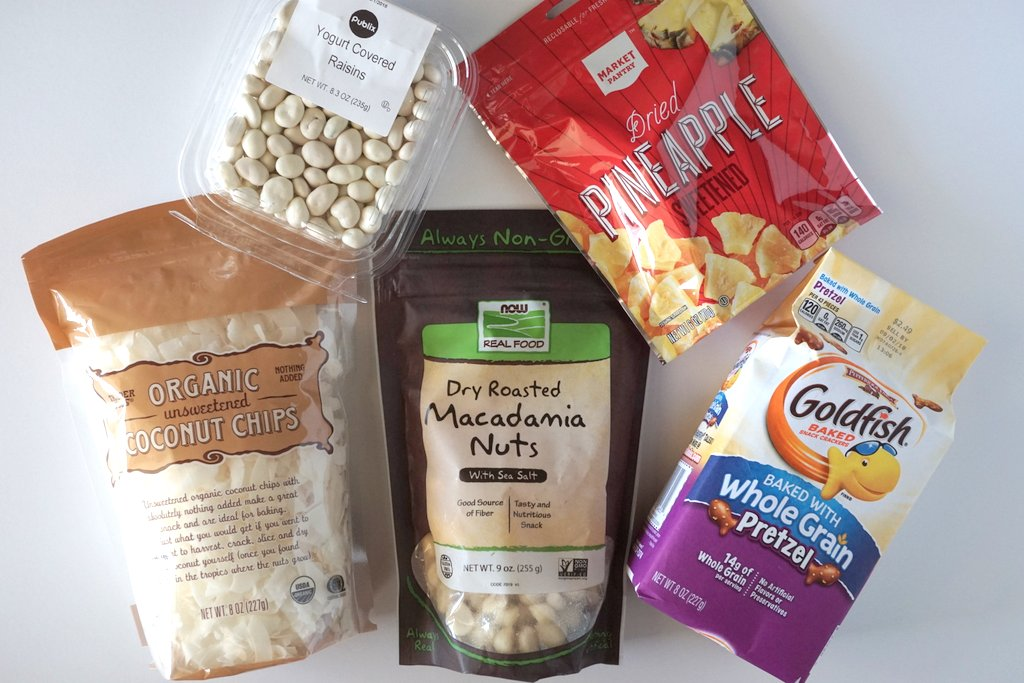 Tropical Snack Mix Ingredients