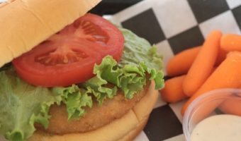 Grocery Store Meal: Chicken Sandwich, Baby Carrots and a Simple Dessert
