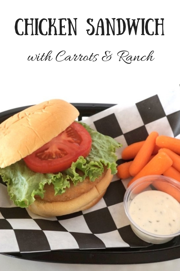 Chicken Sandwich with Carrots and Ranch