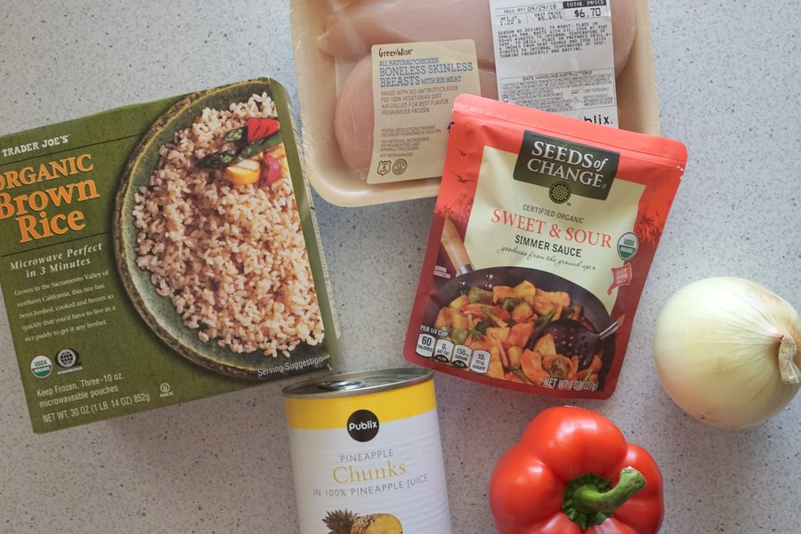 Sweet and Sour Chicken Stir Fry Ingredients