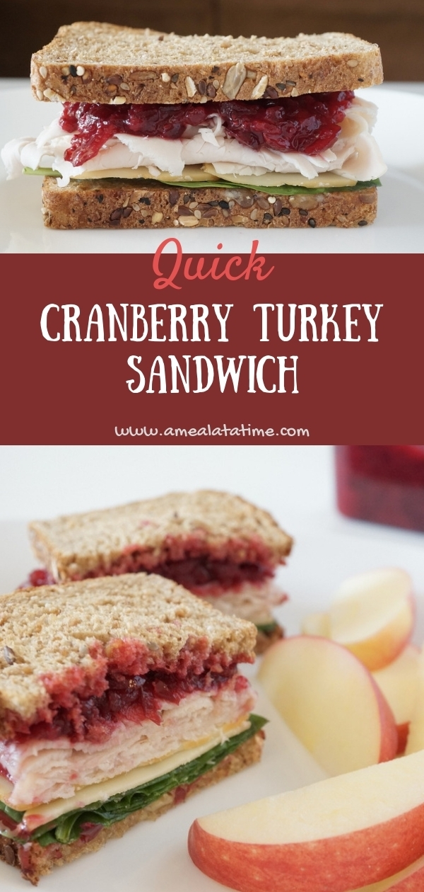 Quick Cranberry Turkey Sandwich