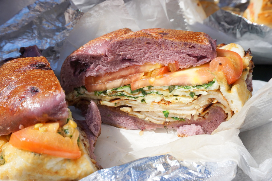 NYC Food Best Bagel and Coffee Bagel Sandwich