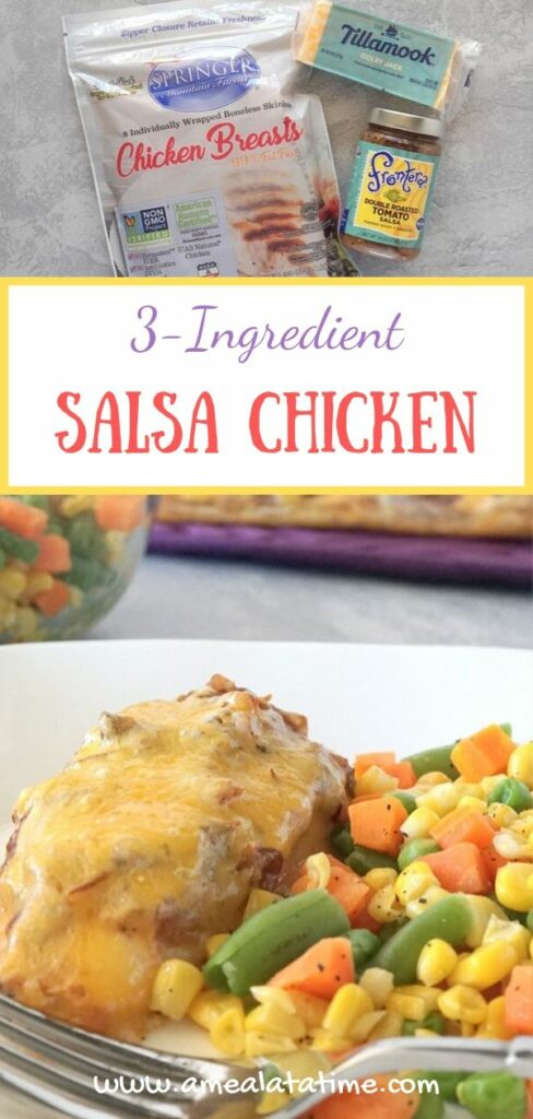 3 Ingredient Salsa Chicken