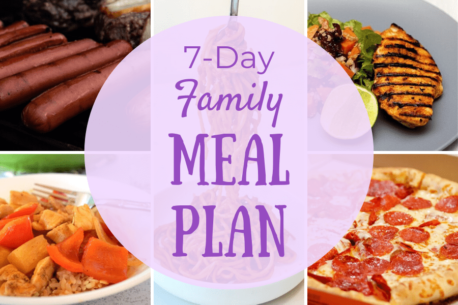 Simple 7 Day Family Meal Plan