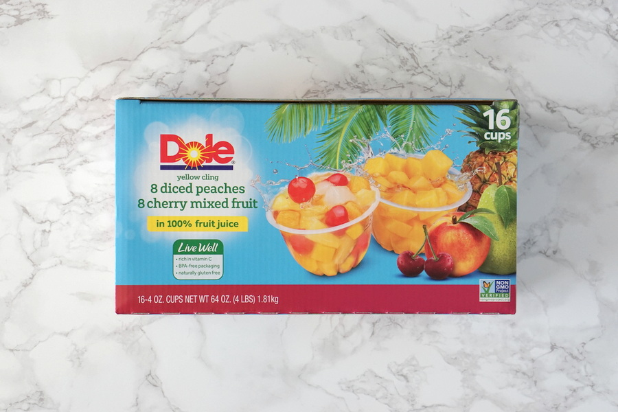 Costco Dole Peaches and Cherry Mixed Fruit
