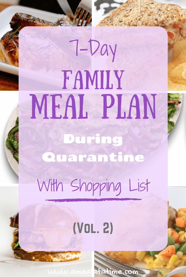 Simple 7-Day Family Meal Plan Vol 2